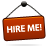 sign,hire,red