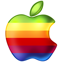 apple,rainbow