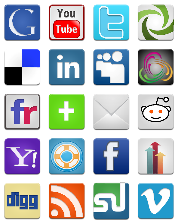 ShareLove Social Media Icon Pack - 22 Free Icons, Icon Search Engine