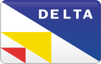 delta,curved,credit card