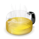 glass,teapot,yellow