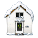 snowy,house,home,building