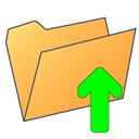 folder,arrow,arrow up,up
