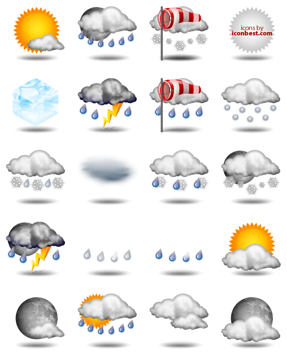 Weather Icons - 40 Free Icons, Icon Search Engine