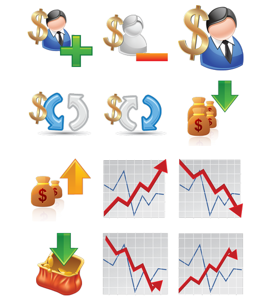 Forex trading icons