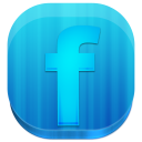 facebook,block,rounded