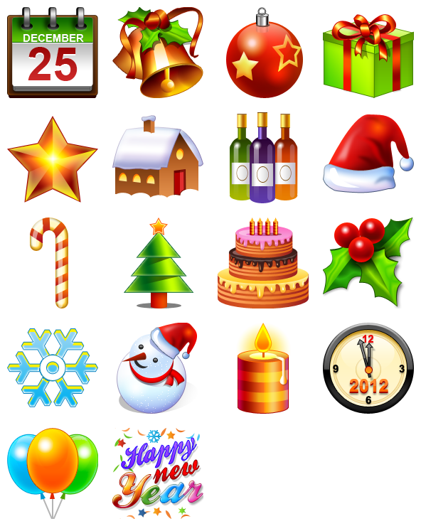 Christmas & New Year Icons