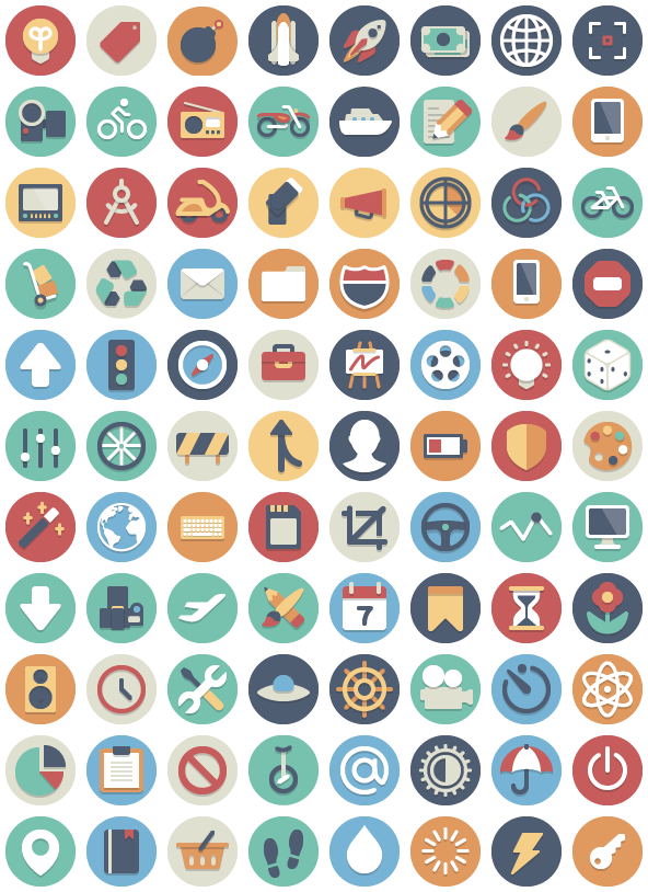 Beautifull flat icons