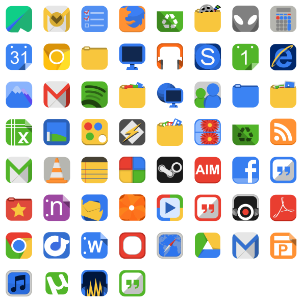 Flat Square Icons for Mac