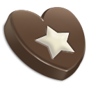 star,favourite,bookmark,chocolate,heart