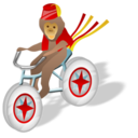 monkey,bicycle