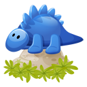 dino,blue,cartoon