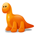 dino,orange,cartoon