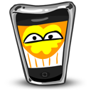 iphone,happy,funny,smile,fun,mobile phone,cell phone,smartphone,emotion,emoticon