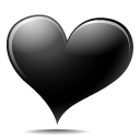 black,heart,avatar,emoticon,face,emotion,valentine,love