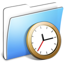 aqua,smooth,folder,clock,alarm,time,history,alarm clock