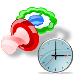 Pacifier Clock Icon Png Ico Or Icns Free Vector Icons