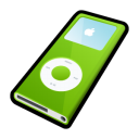 ipod,nano,green,mp3 player