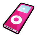 ipod,nano,pink,mp3 player