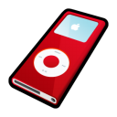 ipod,nano,red,mp3 player