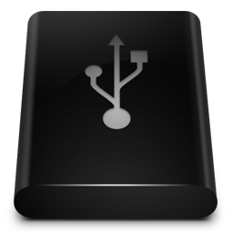 Black Drive Usb Icon Png Ico Or Icns Free Vector Icons