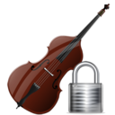 contrabass,lock,instrument,locked,security
