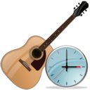 guitar,clock,instrument,alarm,time,history,alarm clock