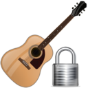 guitar,lock,instrument,locked,security