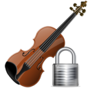 violin,lock,instrument,locked,security