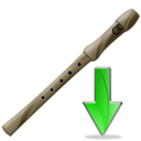 flute,down,instrument,descend,download,fall,decrease,descending