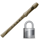 flute,lock,instrument,locked,security