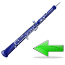 oboe,back,instrument,left,prev,backward,previous,arrow