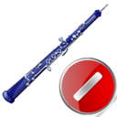 oboe,cancel,instrument,stop,no,close