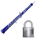 oboe,lock,instrument,locked,security