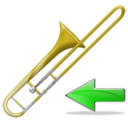 trombone,back,instrument,left,prev,backward,previous,arrow