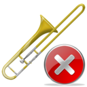 trombone,close,instrument,no,cancel,stop