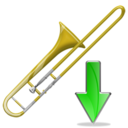 trombone,down,instrument,descend,download,fall,decrease,descending