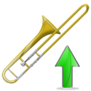 trombone,trombone up,up,instrument,ascend,rise,ascending,upload,increase