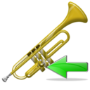 trumpet,back,instrument,left,prev,backward,previous,arrow