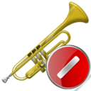 trumpet,cancel,instrument,stop,no,close