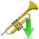 trumpet,down,instrument,descend,download,fall,decrease,descending