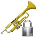 trumpet,lock,instrument,locked,security
