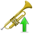 trumpet,trumpet up,up,instrument,ascend,rise,ascending,upload,increase