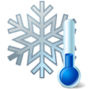 thermometer,snowflake