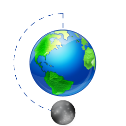 Moon Phase Full Earth Icon Png Ico Or Icns Free Vector Icons