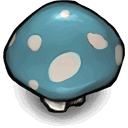conspicuously,blue,mushroom