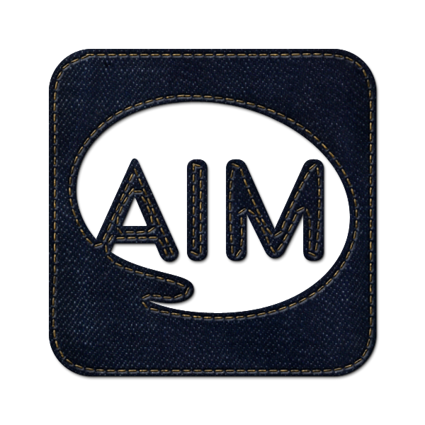 denim,jean,social,aim,logo,square