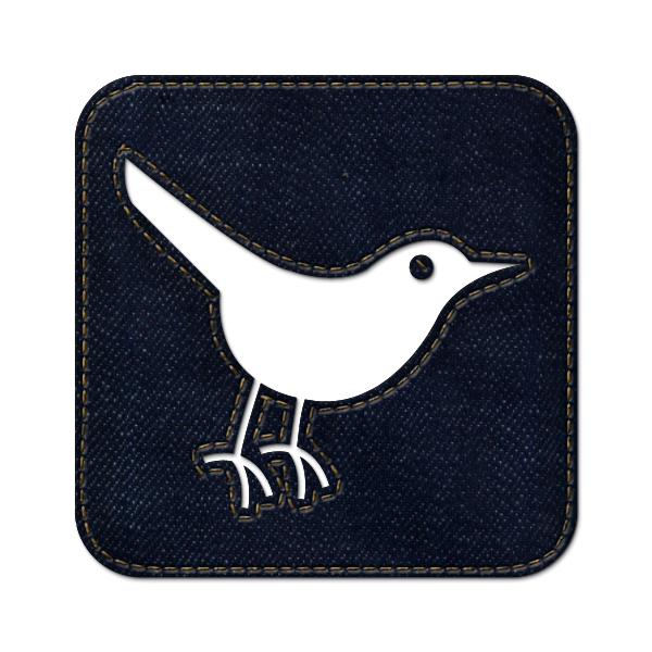 denim,jean,social,twitter,bird,square,animal,social network,sn