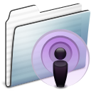 podcast,folder,graphite,stripe
