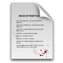 fight,club,blood,document,fight club,paper,rule,file